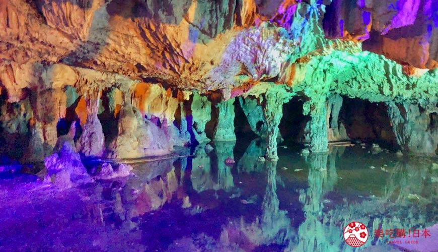 日本冈山钟乳石洞秘境去「新见」!钟乳石洞「满奇洞」内照片
