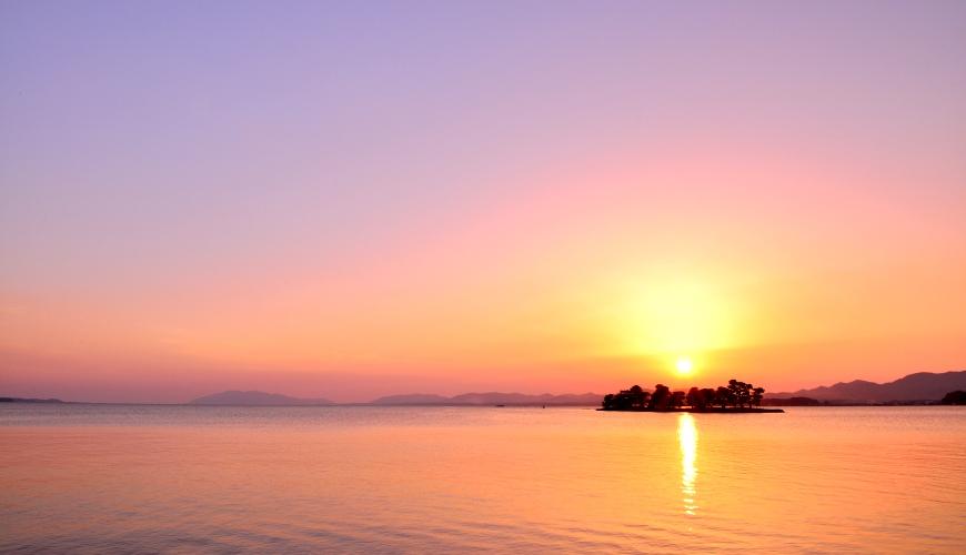 日本结缘圣地「岛根」、柯南故乡「鸟取」旅游推荐:宍道湖的夕阳