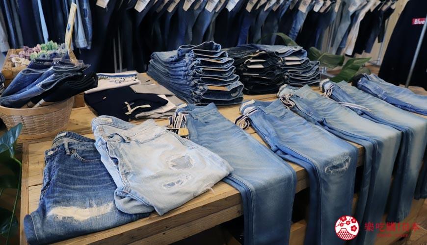「丹宁之父」石桥秀次在2016年创立的牛仔裤品牌「BLUE SAKURA」在冈山有3间分店作零售点