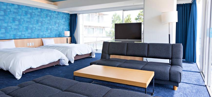 冈山旅游饭店亲子住宿推荐「濑户内钻石酒店」的「海景套房」(スイートルーム)