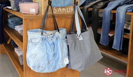「丹宁之父」石桥秀次在2016年创立的牛仔裤品牌「BLUE SAKURA」跟「D&C 」联名的热卖丹宁托特包