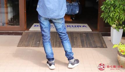 「丹宁之父」石桥秀次在2016年创立的牛仔裤品牌「BLUE SAKURA」卖得最好的一款牛仔裤Lean 3D的背面图