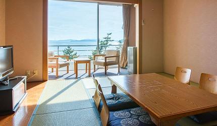 冈山旅游饭店亲子住宿推荐「濑户内钻石酒店」的海景和式房、和洋室(海侧和室、和洋室)