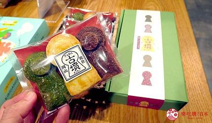 岡山伴手禮雜貨推薦必逛「HAREMACHI 特區 365」的販售的古墳巧克力
