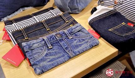 岡山伴手禮雜貨推薦必逛「HAREMACHI 特區 365」的販售的牛仔褲造形收納包