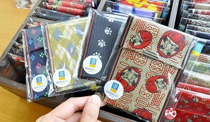 岡山伴手禮雜貨推薦必逛「HAREMACHI 特區 365」的榻榻米包邊封布製作的卡夾與零錢包