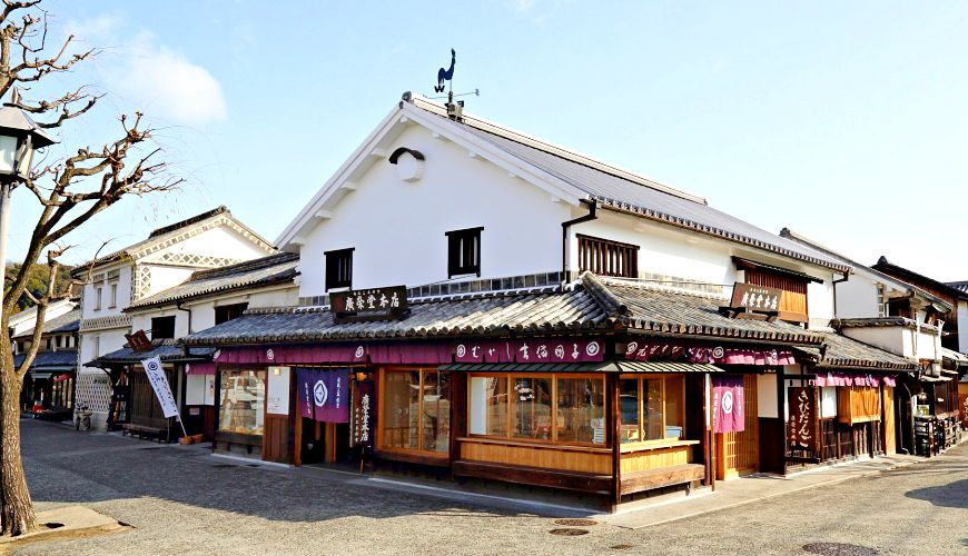 日本岡山必買伴手禮和菓子傳統老店「廣榮堂」倉敷雄雞店外觀