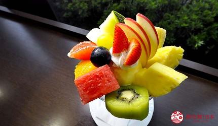 岛根鸟取自由行必吃美食推荐三明治与芭菲店家「Fruit Cafeハタノ」的水果芭菲