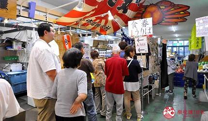 岛根鸟取自由行必吃美食推荐海鲜丼店家「山芳亭」排队中