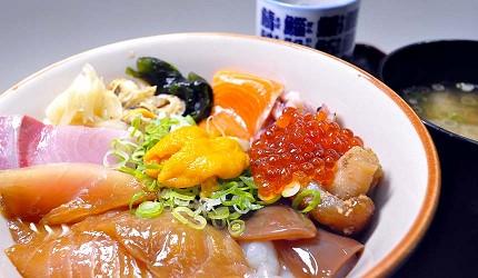 岛根鸟取自由行必吃美食推荐海鲜丼店家「山芳亭」的海鲜丼