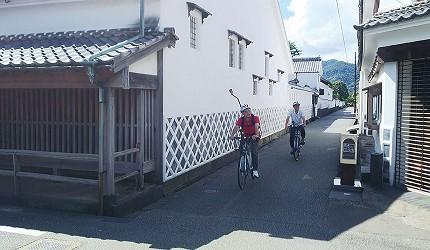 漫才少爺在萩城下町騎單車的花絮