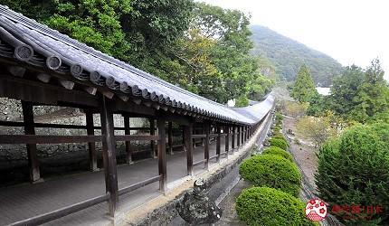 岡山人氣吉備景點推薦「吉備津神社」的著名迴廊