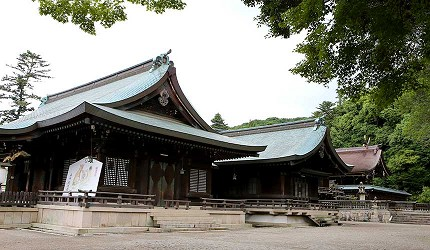 冈山人气吉备景点推荐「吉备津彦神社」的三座神殿