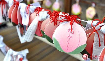 岡山人氣吉備景點推薦「吉備津彥神社」的桃子繪馬與詩籤