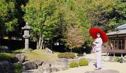 日本山阳山阴「山口市」的菜香亭的枯山水庭