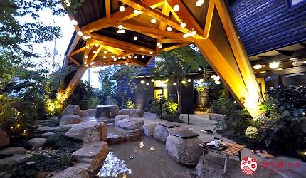 日本山阳山阴「山口市」的温泉咖啡厅「白狐的足迹」的四季之汤