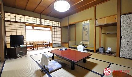 日本山阳山阴「山口市」的温泉旅馆「山水园」房间