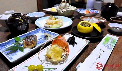 日本山阳山阴「山口市」的温泉旅馆「山水园」的晚餐