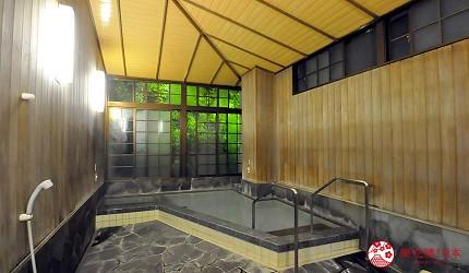 日本山阳山阴「山口市」的温泉旅馆「山水园」的内汤