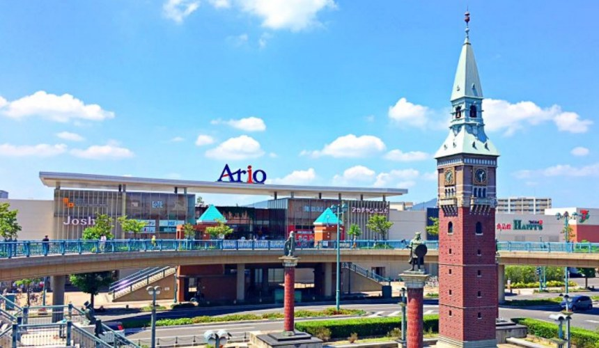 岡山必逛大型購物商場「Ario倉敷」就在車站旁邊