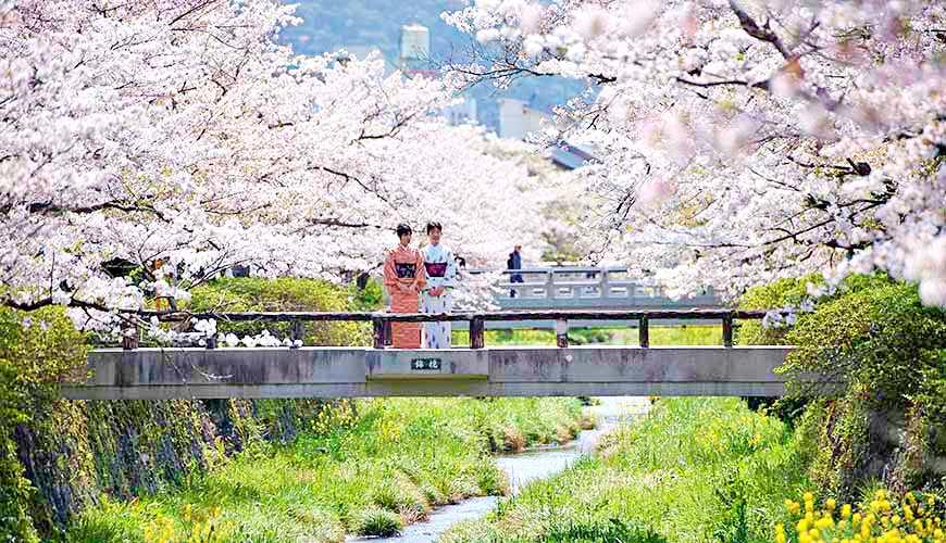 日本山阳山阴「山口市」的一之坂川