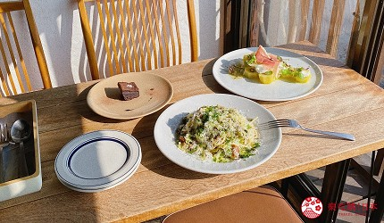 島根鐵道旅行1日遊行程推薦推介可以去到出雲大社、松江城、堀川熱們景點的一畑電車可以去到的打卡熱點咖啡店trattorìa814的午餐