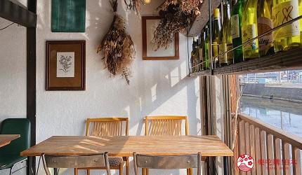 島根鐵道旅行1日遊行程推薦推介可以去到出雲大社、松江城、堀川熱們景點的一畑電車可以去到的打卡熱點咖啡店trattorìa814的坐位區
