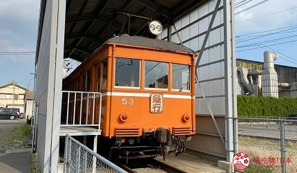 島根鐵道旅行1日遊行程推薦推介可以去到出雲大社、松江城、堀川熱們景點的一畑電車可以去體驗試駛 DEHANI 50形電車的雲州平田站內的DEHANI 50形電車