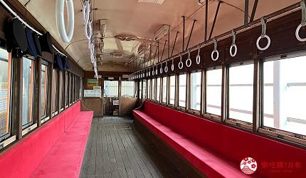 島根鐵道旅行1日遊行程推薦推介可以去到出雲大社、松江城、堀川熱們景點的一畑電車可以去體驗試駛 DEHANI 50形電車的雲州平田站內的DEHANI 50形電車內觀