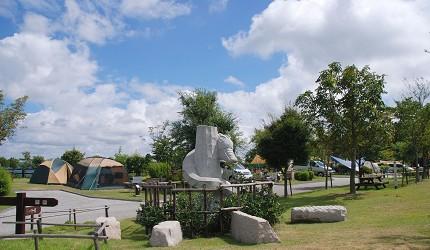 岡山自由行兩天一夜行程推薦!桃子之鄉「赤磐市」的「吉井竜天オート露營場」